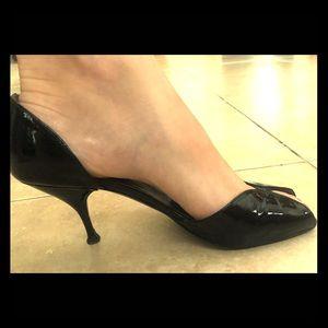 Prada heels. Size 37.5 black peep toe heels/pumps